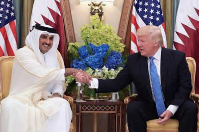 Emiro del Qatar Al Thani e Trump